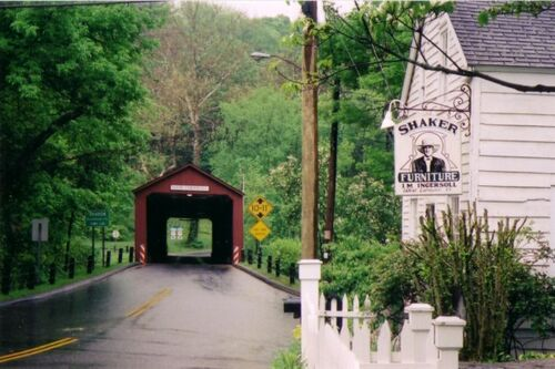 Covered bridge in Cornwall