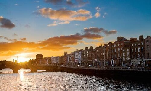 Sunrise in Dublin