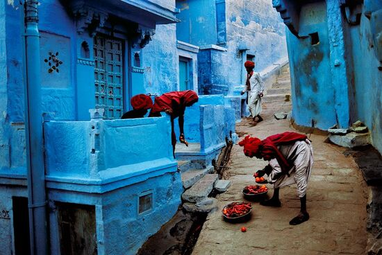 Beautiful gorgeous blue street in Jodhpur