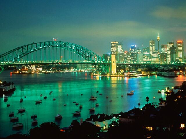 File:Australia Nature 1920x1440 HD Wallpapers Pack 2-7.jpg Sydney Harbor at Dusk Australia.jpg