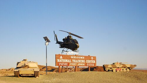 1280px-Fort Irwin National Training Center - Welcome sign - 1