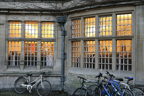 File:Bikes and a warm window.jpg
