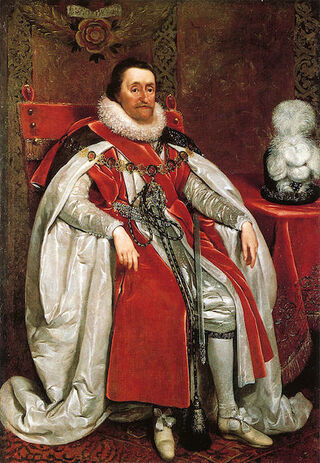 James VI & I by Daniel Mytens