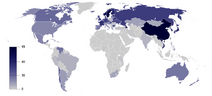 Percent of people who are irreligious