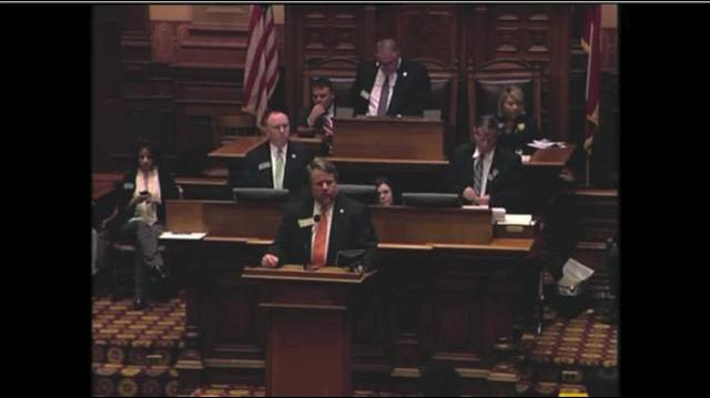Rep. Terry England compares women to cows, pigs and chickens.