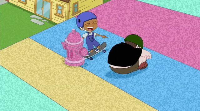 File:Baljeet just about to hit the foam fire hydrant.jpg
