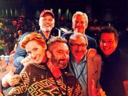 Rob Paulsen with Judith Hoag, Townsend Coleman, Cam Clarke, Barry Gordon, & Kevin Eastman