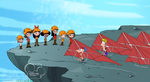 Phin and Ferb with hang gliders
