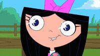 Isabella's eyes sparkling
