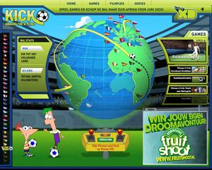 Kick Around the World - Netherlands ball path