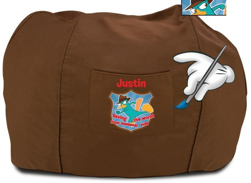 File:Personalized P&F bean bag chair - brown.jpg