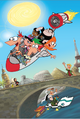 Phineas and Ferb Summer Belongs to You Promotional Art by Anthony Vukojevich