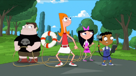 Candace and the gang about to rescue Phineas and Ferb.png