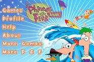 Phineas and Ferb Arcade menu