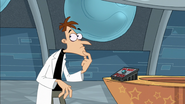 Doof thinks about not pressing the button