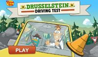 Drusselstein driving test game start image