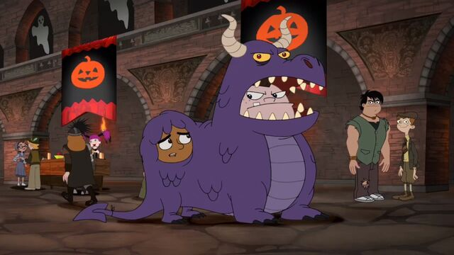 File:Buford and Baljeet dressed like a dragon.jpg