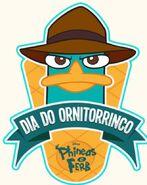 Portuguese platypus day logo
