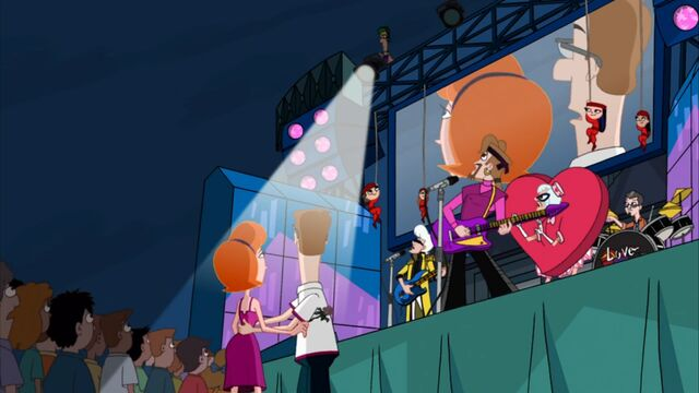 File:Linda and Lawrence see Ferb above the stage.jpg