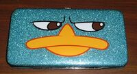 Perry glitter hinged wallet