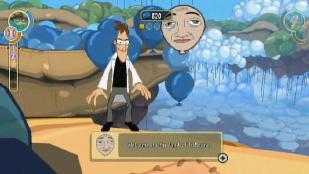 Cartoon Characters Looking Forward : Balloony balloon dimension phineas and ferb wiki