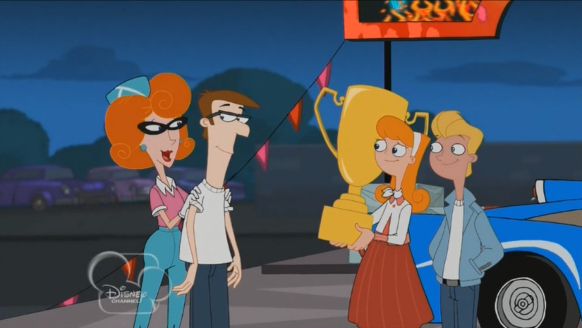 image candace holding trophy 2png phineas and ferb