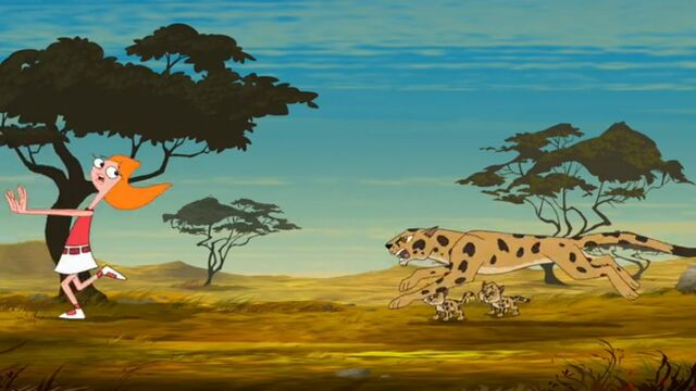 File:Candace running away from the mother cheetah.jpg
