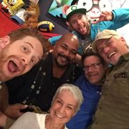 Kevin Michael Richardson with Andrea Romano, Seth Green, Rob Paulsen, Greg Cipes, & Sean Astin