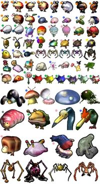 Pikmin one and two emenys all