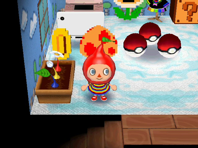 File:Animal crossing nintendo room red pikmin hat by anime boy-d50qv4h.jpg