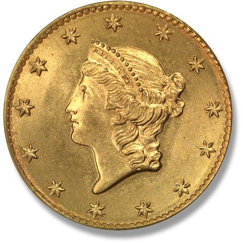 File:1849 Аверс золотого доллара I типа.jpg