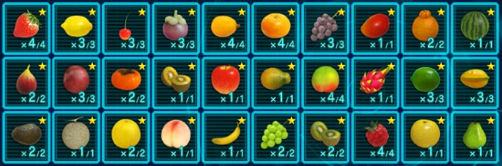 Fruit chart
