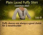 Plain Laced Puffy Shirt
