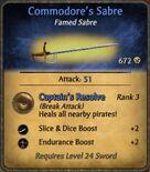 Commodore's Sabre