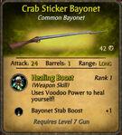 Crab Sticker Bayonet 2010-12-06