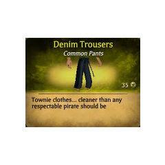 Dark Blue Denim Trousers