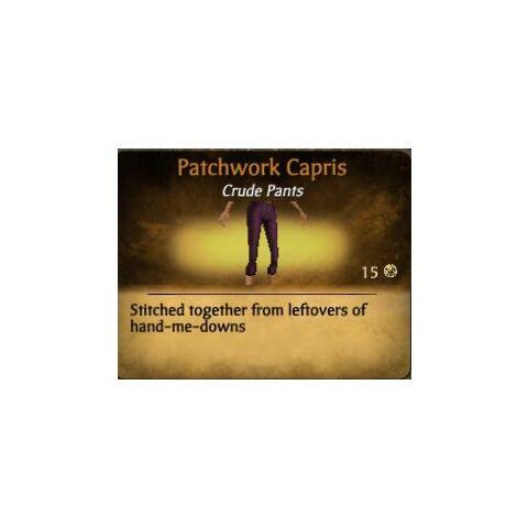 Plum Patchwork Capris