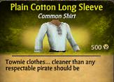 Plain Cotton Long Sleeve