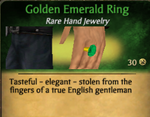 GoldenEmeraldRing