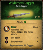 Wilderness dagger