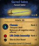 Sacred Sabre - clearer