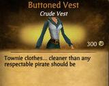 F Buttoned Vest