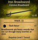 Iron Broadsword