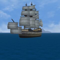 The Ship of the Line under full sail!