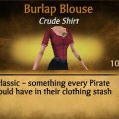Red Burlap Blouse
