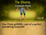 F Tie Shorts