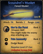 Scoundrel's musket
