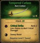 Tempered Cutlass 2011-01-11
