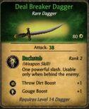 Deal Breaker Dagger