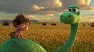 The Good Dinosaur Arlo and Spot Buffalo Field